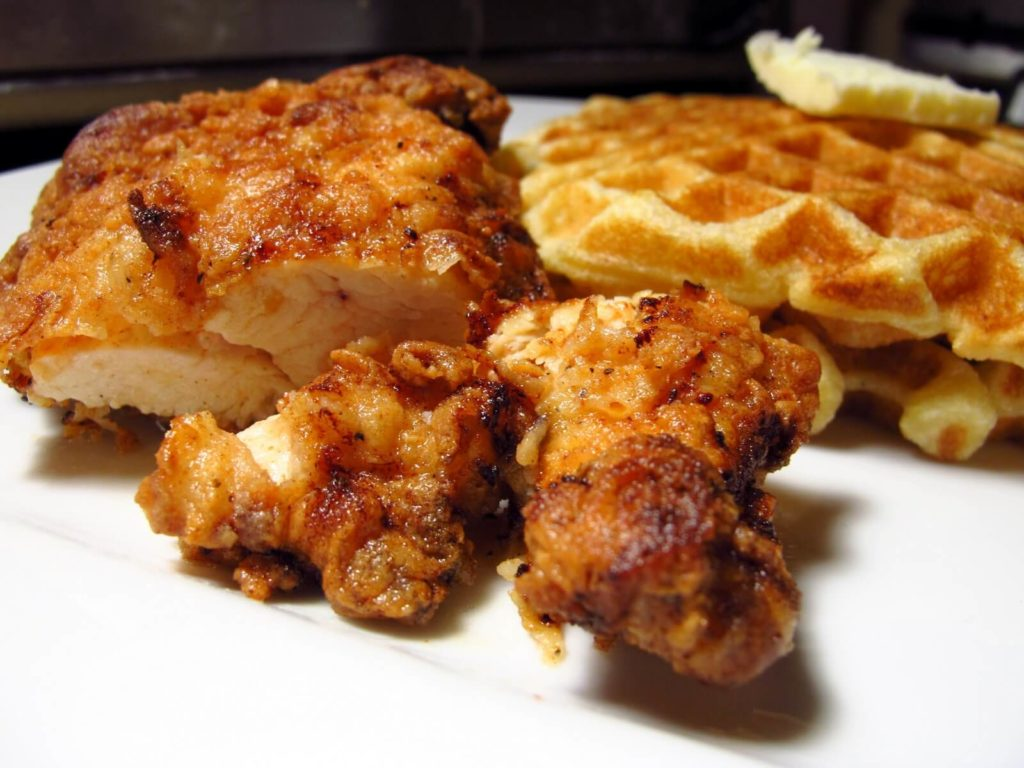 southern-fried chicken and waffles